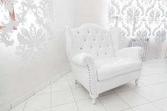 Wide white armchair Royalty Free Stock Image