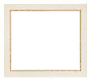 Wide white flat wooden picture frame Stock Image
