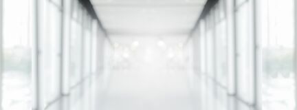 Free Wide White Gray Blurred Empty Abstract Corridor Pathway Background From Perspective Building Hallway For Useus Way To Business Royalty Free Stock Images - 171513419
