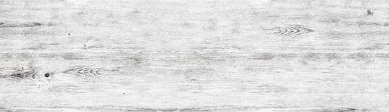 Wide white wood texture - whitewashed wooden shabby background stock images