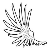 Wide wing icon, outline style Stock Photo
