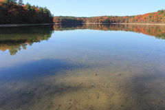 Wide wonder in November at Walden Pond. 2015 Royalty Free Stock Photos