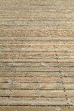 A wide wooden boardwalk. Stock Photos