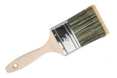 The wide wooden paint brush stock photography