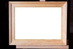 Wide wooden picture frame Royalty Free Stock Photography