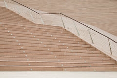 Wide wooden stairs Stock Image