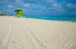 Life guard tower at Miami beach Stock Photo