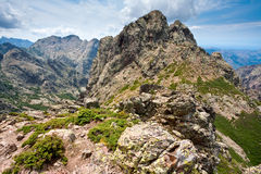 Wideange scenery in the mountains Royalty Free Stock Image