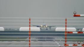 Widebody посадка самолета сток-видео