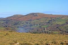 Widecombe-in-de-leg, Dartmoor vast royalty-vrije stock afbeelding
