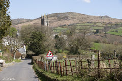Widecombe in Moor een dorp op Dartmoor Engeland het UK stock foto