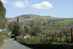 Widecombe in the Moor a village on Dartmoor  England UK Stock Photo