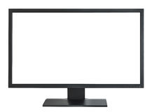 Widecreen monitor. A widescreen monitor on a white background Stock Photography