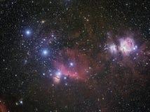 Widefield猎户星座复合体 图库摄影