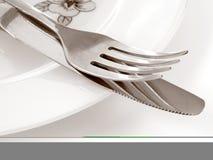 widelec 1 nóż Fotografia Stock