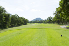 Widely golf  course in very nice day Royalty Free Stock Images