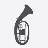 Widely Menzurny Brass Instrument Tube. Vector Illustration. EPS10 Stock Photo
