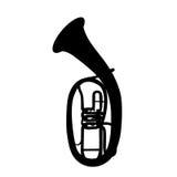 Widely Menzurny Brass Instrument Tube. Vector Illustration. EPS10 Stock Photos