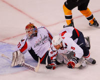 Wideman and Holtby collide. Royalty Free Stock Photo