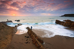 Widemouth Bay in Cornwall, UK Stock Photos