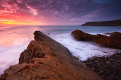 Widemouth Bay in Cornwall, UK Royalty Free Stock Images