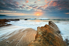 Widemouth Bay in Cornwall, UK Stock Images