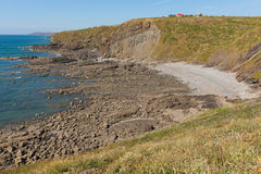 Widemouth Bay Water Cove near Bude Cornwall England UK Stock Images