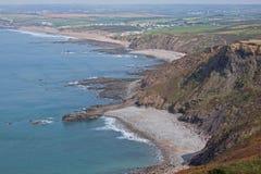 Widemouth-Bucht Großbritannien Lizenzfreies Stockbild