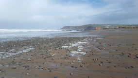 Widemouth zatoki morze Fotografia Stock