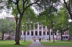 Widener Bibliothek im alten Harvard-Yard Lizenzfreies Stockfoto