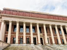 Widener Library at Harvard Yard of Harvard University Cambridge. Widener Library at Harvard Yard of Harvard University, Cambridge, Massachusetts, USA Royalty Free Stock Images