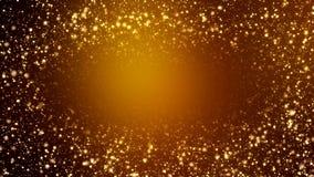 Wideo animacja - boże narodzenie połysku cząsteczek złoty lekki bokeh ilustracja wektor