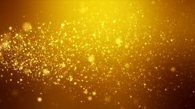 Wideo animacja - boże narodzenie połysku cząsteczek złoty lekki bokeh ilustracji