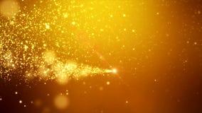 Wideo animacja - boże narodzenie połysku cząsteczek złoty lekki bokeh royalty ilustracja