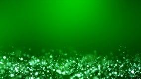 Wideo animacja - bożonarodzeniowe światła połysku cząsteczek bokeh