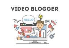 Wideo blogging pojęcie ilustracja wektor