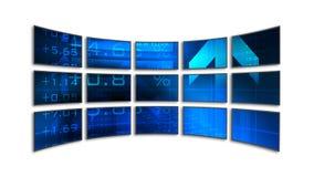 Wideo Ściana Fotografia Stock