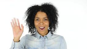 Wideo gadka Afro amerykanina kobietą Fotografia Royalty Free