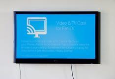 Wideo i TV obsada dla ogienia TV app Zdjęcie Royalty Free