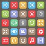 Wideo interfejs ikona dla sieci lub wiszącej ozdoby wektor Zdjęcie Stock