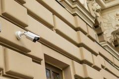 Wideo inwigilacji kamery kamera bezpieczeństwa na lokacji zdjęcia royalty free