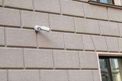 Wideo inwigilacji kamery kamera bezpieczeństwa na lokacji zdjęcie stock