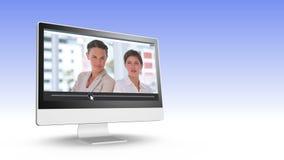 Wideo ludzie biznesu pozuje przed kamerą zdjęcie wideo