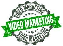 wideo marketing foka znaczek royalty ilustracja