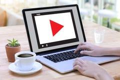 WIDEO MARKETINGOWY Audio wideo, targowi Interaktywni kanały, Bu obrazy stock
