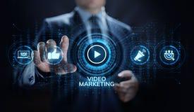 Wideo marketingowy reklama online biznesu interneta pojęcie obrazy royalty free