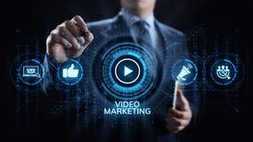 Wideo marketingowy reklama online biznesu interneta pojęcie ilustracji