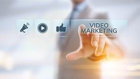Wideo marketingowy reklama online biznesu interneta pojęcie zdjęcie royalty free