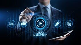 Wideo marketingowy reklama online biznesu interneta poj?cie obraz stock