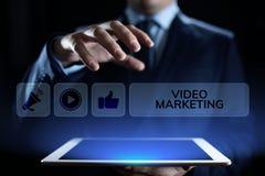 Wideo marketingowy reklama online biznesu interneta poj?cie zdjęcie royalty free